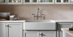 Apron-front sinks have an iconic appeal. And now they're as popular in modern…