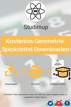 Bei uns könnt ihr kostenlos Geometrie Spickzettel zum lernen Downloaden, mit denen ihr dann lernen könnt. Mathe lernen leicht gemacht.