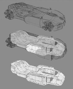 Gashetka | Transportation Design | 2015 | Renault Coupe Corbusier | Source