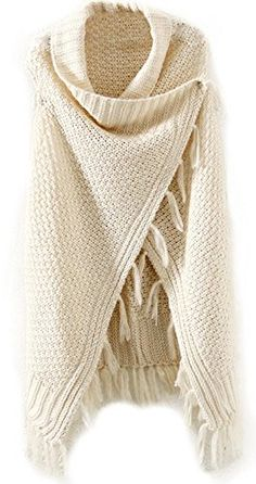 ANDI ROSE Women's Sleeveless Knitted Cardigan Sweater Vest Tassels Coat -- Find out more about the great item at the image link.