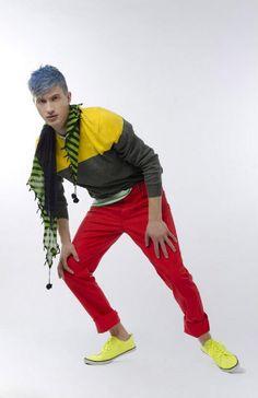 Neon Love  Photographer: Vanessa DeZutter  Stylist: Carmen Tsang  Model: Aleks, I Model Management  colours, bright, bold, editorial, fun, men's apparel Fashion Books, Men's Fashion, Spring 2014, Spring Summer, 2014 Trends, Gucci Men, Model, Neon, Colours