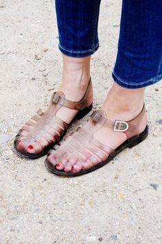 Omg I used to wear these when I was little! They were called Jelly Sandals! Lol