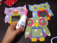DIY Owl picture frames