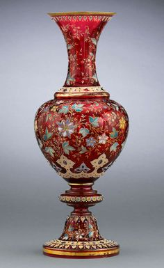 Moser Ruby Glass Vase
