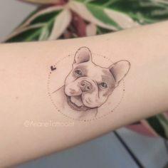Tattoo Bulldog, Tattoo Pitbull, Unique Tattoos, Beautiful Tattoos, Tattoo Perro, Bulldogge Tattoo, Dog Portrait Tattoo, Tattoo Symbole, Dog Memorial Tattoos