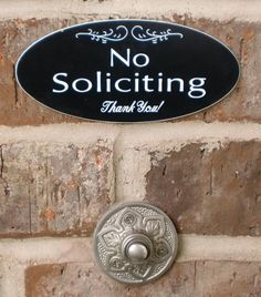 Black No Soliciting Sign by DandyLikeALion on Etsy, $12.00