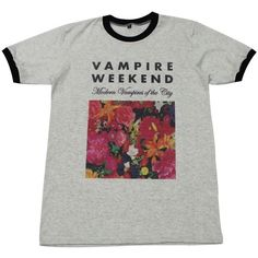 Vampire Weekend T-Shirt floral indie punk rock music GV58.4 size L (410 CZK) ❤ liked on Polyvore featuring tops, shirts, klær, punk rock shirts, shirt top, indie hair, floral print tops and flower print tops
