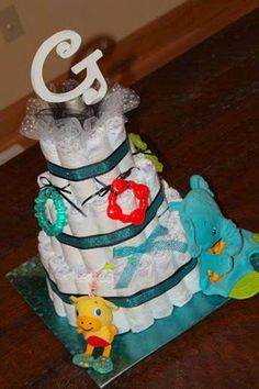 Adorable Baby Shower Diaper Cake