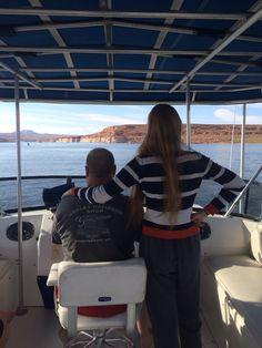 Lake Powell- houseboat flying bridge!