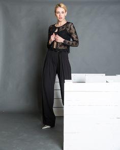 Μαύρη παντελόνα ANEL