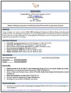 Sample Template of a Experienced Mechanical Engineer with great ...