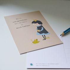 #fairytale #frogking #froschkönig #märchen #postcard #postkarte shop it at DaWanda: http://de.dawanda.com/product/51254866-Postkarte-Froschkoenig
