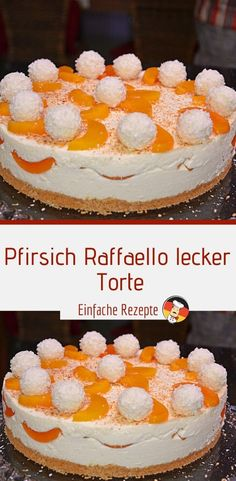 Ingredients For the dough: 7 egg (s), separated 210 g flour 210 g sugar For the filling: 80 g grated coconut, roasted 230 g confectionery (raffaello) 100 g chocolate . Low Fat Cake, Types Of Pastry, Cake Varieties, Different Cakes, Irish Recipes, Seafood Dishes, Confectionery, Tasty Dishes, Tray Bakes