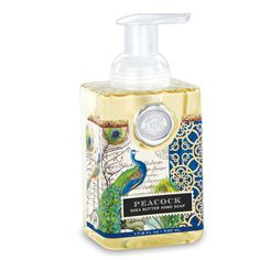 Michel Design Works Foamer - Peacock -- The generous size of our foaming hand soap proves you can offer great value without sacrificing quality. The soap contains shea butter and aloe vera for gentle cleansing and moisturising.
