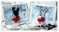 Cuts2luv vos badges uniques Québécois : Deux cartes de Noël par Maryse