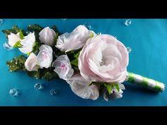 Bridal bouquet: hairpins-flowers/Ramo de boda: flores-barrettes/Букет невесты: цветы-заколки.МК - YouTube
