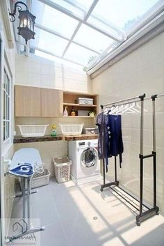 Outdoor Laundry Rooms, Modern Laundry Rooms, Laundry Room Layouts, Laundry Room Organization, Modern Room, Laundry Room Design, Home Room Design, House Design, Drying Room
