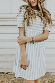 Stripe summer dress | ROOLEE
