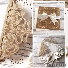 **New** Stunning Glitter Rose Gold Intricate Lasercut diamond fold Wedding invitation with large double satin ivory bow. Also available in Gold and Silver Glitter #epiphany_design #wedding #weddingstationery #weddinginvitation #glitter #lasercutinvitations #lasercutweddinginvitations #bespoke #elegantinvitations #sparkle#banbridge