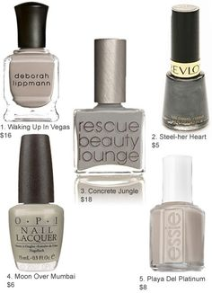 Gray Polishes by lynnette