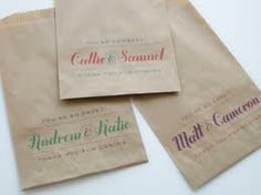 brown paper bag thank you - Google Search Candy Wedding Favors, Custom Wedding Favours, Candy Favors, Wedding Favor Bags, Cookie Favors, Candy Buffet Bags, Lolly Buffet, Candy Bags, Candy Table