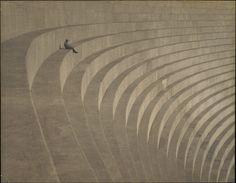 The thinker, Mulholland dam, c1930. Photo by Hiromu Kira [2769x2154]
