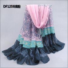 45d67b4fee06a 1pc v05 Good Quality Women Fashion Design Silk Thin Long Design Cotton  Beach Wrap Cape scarf