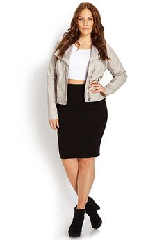 Light grey leather jacket. Loveee it!