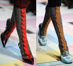 cabled socks - prada