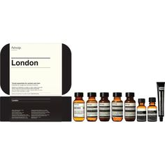 Aesop London Kit (€68) ❤ liked on Polyvore featuring beauty products, gift sets & kits, colorless, aesop and face toners