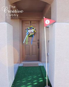 Adult Golf Party - The Creative Cubby -- Use astroturf in your front walkway! Husband 30th Birthday, 70th Birthday, Birthday Party Themes, Birthday Games, Birthday Ideas, Happy Birthday, Golf Party, Big Party, Party Time