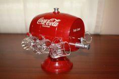 MINT***** 1950's Coca Cola Syrup Dispenser W/ Glass Mugs