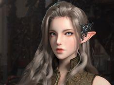 Elf Archer, Sams Kim on ArtStation at https://www.artstation.com/artwork/bqozn