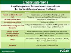 Ernährung Vegan Austausch