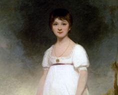 This is, in theory, a portrait of Jane Austin at age 13.