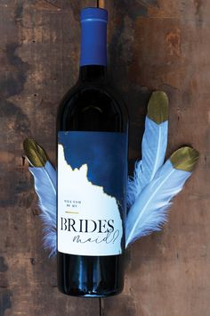 Bridesmaid proposal gift idea for your bridal party. Will you be my bridesmaid wine label. Brides Maid Proposal, Groomsmen Proposal, Bridesmaid Proposal Gifts, Always A Bridesmaid, Will You Be My Bridesmaid, Bridesmaid Ideas, Wine Label Design, Design Packaging, Coffee Packaging