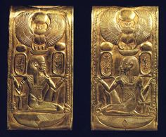 Details on a cosmetic box found in the tomb of Tutankhamun.