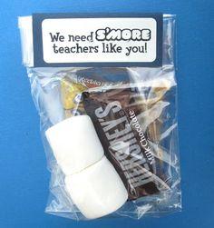 """Dollhouse Bake Shoppe: """"We Need S'more Teachers Like You"""" Treat Idea"""