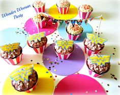 Sugar Swings! Serve Some: Wonder Woman Cupcakes for the Cupcake Couture Blog Party!