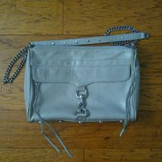 Host Pick: Rebecca Minkoff MAC Daddy Bag Gently used condition with light wear on the exterior. Very clean, like new interior.   Silver hardware. This is the larger size MAC not the mini. The color is a light grey/ taupe. No dustbag.   Let me know if you have any questions.  Host pick for best in bags! Rebecca Minkoff Bags
