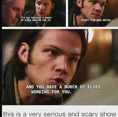This is a very serious and scary show. 6x09 Clap Your Hands If You Believe