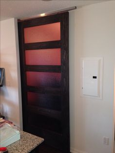 Panel Door With Ceiling Mount Hardware. Great Option If You Donu0027t Have The
