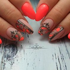 Neon Nail Design Ideas With Glitter Stripes ❤ Totally Hip Summer Nail Desi. - Nail Design Ideas, Gallery of Best Nail Designs Nail Art Designs, Crazy Nail Designs, Short Nail Designs, Nails Design, Neon Nail Art, Neon Nails, Glitter Nails, Yellow Nails, Stiletto Nails
