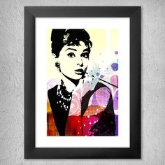 Audrey Hepburn Çerçeveli Tablo by sibelyokus | ArtZula.com