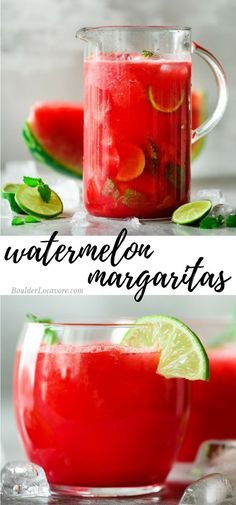 Watermelon Margaritas Homemade Watermelon-Infused Tequila and the best Watermelon Margarita recipe you'll ever taste! You'll want to keep this tequila in the fridge all summer long! Party Drinks, Cocktail Drinks, Fun Drinks, Cocktail Recipes, Beverages, Tequila Drinks, Liquor Drinks, Lime Drinks, Bourbon Drinks
