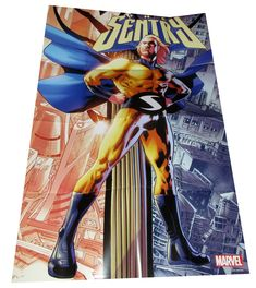 Marvel Sentry Folded Promo Poster x - New! Sentry Marvel, Comics, Shop, Poster, Cartoons, Comic, Billboard, Comics And Cartoons, Comic Books