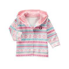 Baby Polar Pink Fair Isle Hoodie by Gymboree