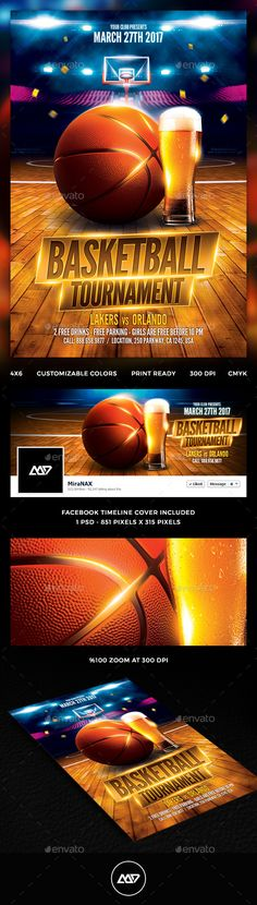 Basketball Flyer Template Bundle | Flyer Template, Psd Flyer