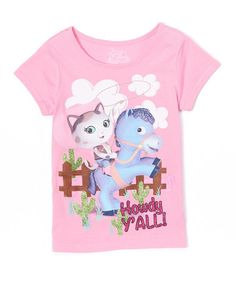 Another great find on #zulily! Doll Pink Sheriff Callie 'Howdy Y'all' Tee - Girls #zulilyfinds
