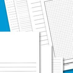 Lined Paper Printables {Homeschool Supplies}